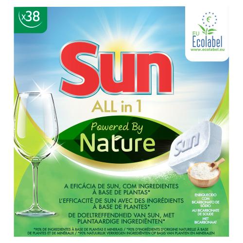 Sun All-in 1 Vaatwastabletten Powered By Nature 6 x 38 Stuks (760g)