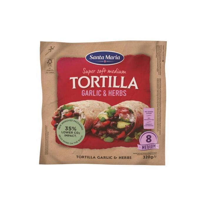 Garlic & herbs tortilla (320g)
