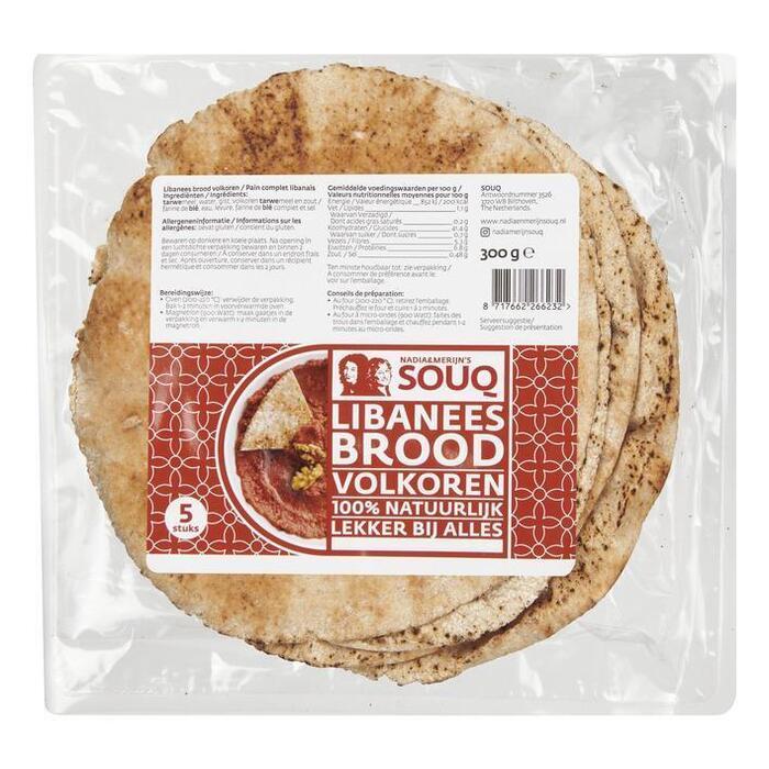 Souq Libanees brood volkoren (290g)