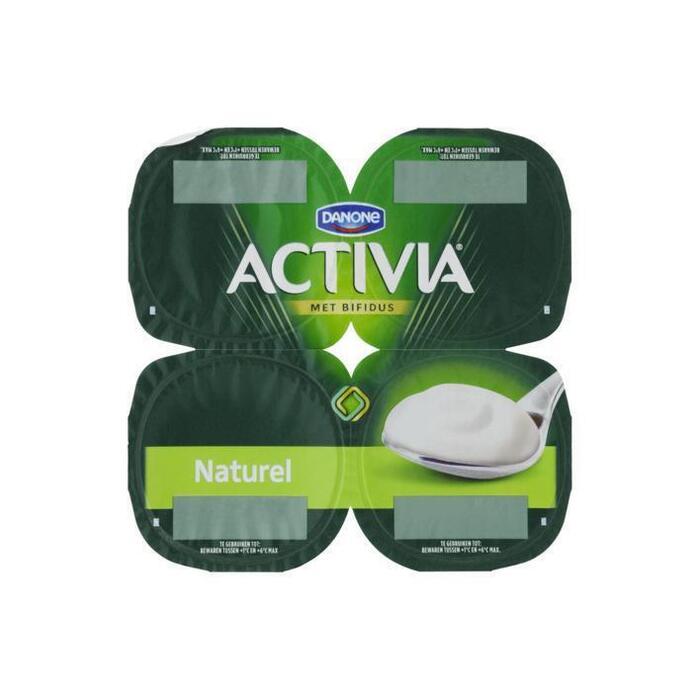 Activia yoghurt naturel 4 x 125 gram (Stuk, 4 × 125g)