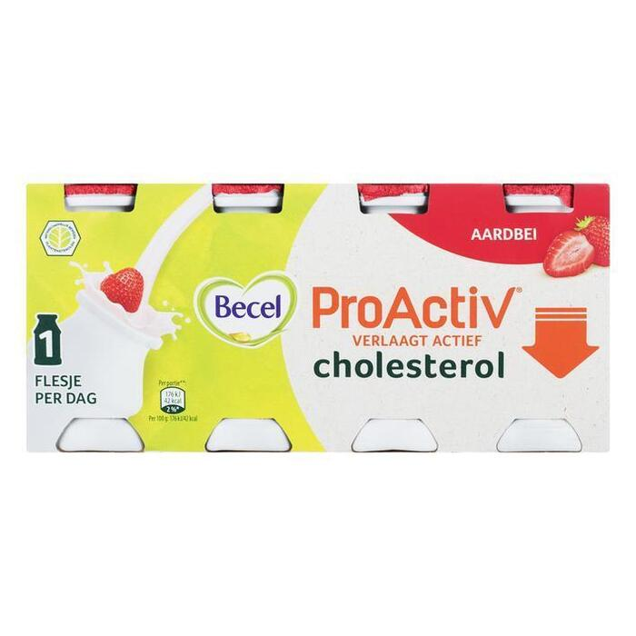 ProActiv aardbei mini yoghurts drink (6 × 0.8L)