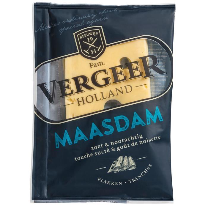 Vergeer Holland Kaas Plakken Maasdam 175g (175g)