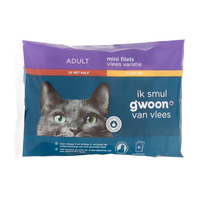 g'woon Pouch flow vlees in saus 4-pack
