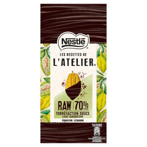 Nestlé l'Atelier Puur Raw Chocolade 70% 95 g (95g)