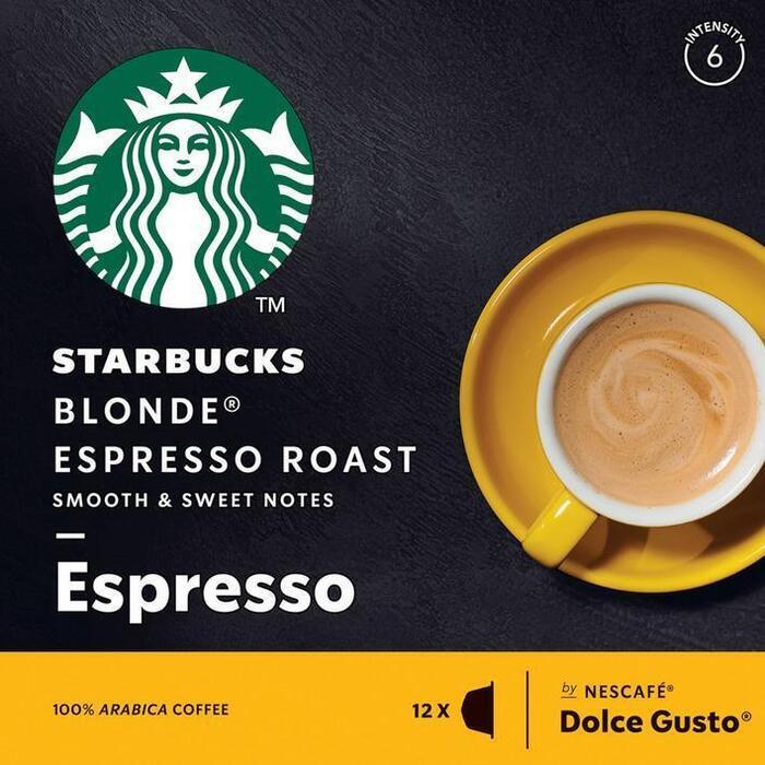 Starbucks Dolce Gusto espresso blonde roast (12 × 66g)