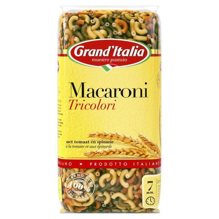 Grand'Italia Pasta Macaroni Tricolori 500 g Zak (500g)