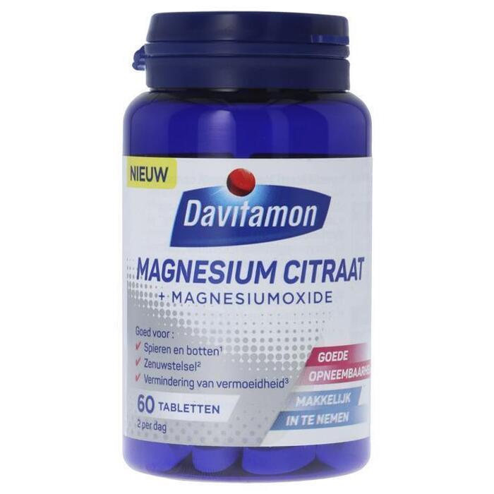 Davitamon Magnesium citraat (tabletten, 60 × 82g)