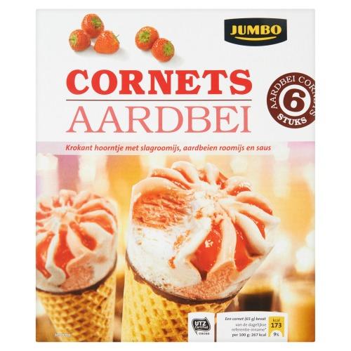 Cornets aardbei (6 × 110ml)