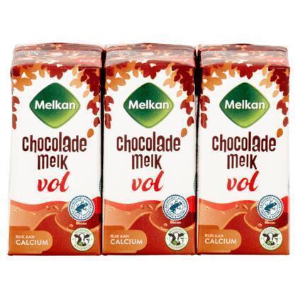 Volle chocolademelk (drinkpak, 6 × 200ml)