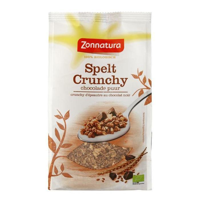 Crunchy Spelt Chocolade Puur (zak, 375g)