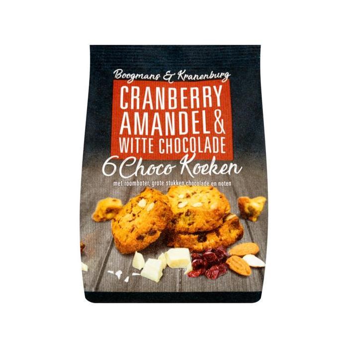 Boogmans & Kranenburg Cranberry Amandel & Witte Chocolade Choco Koeken 6 Stuks 150g (6 × 25g)