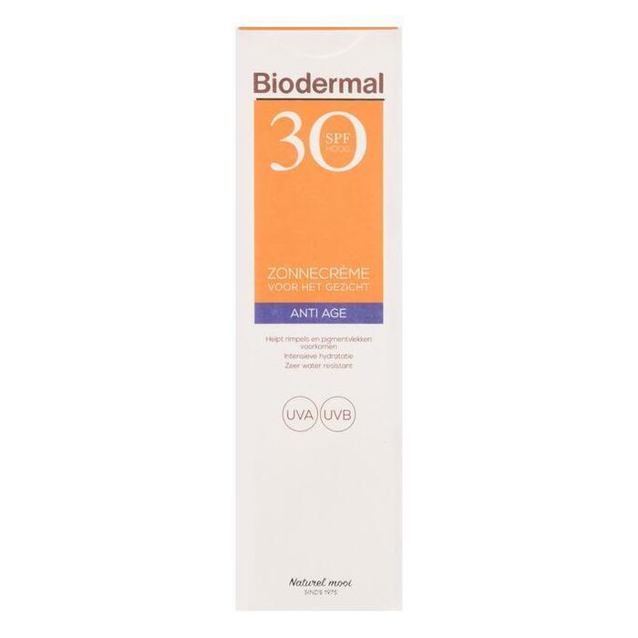 Biodermal Anti age zonnecrème gezicht SPF 30 (40ml)
