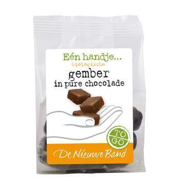 Gember in pure chocolade (75g)