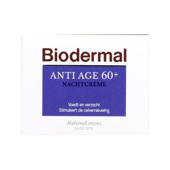 Biodermal Anti-age 60+ nachtcrème (50ml)