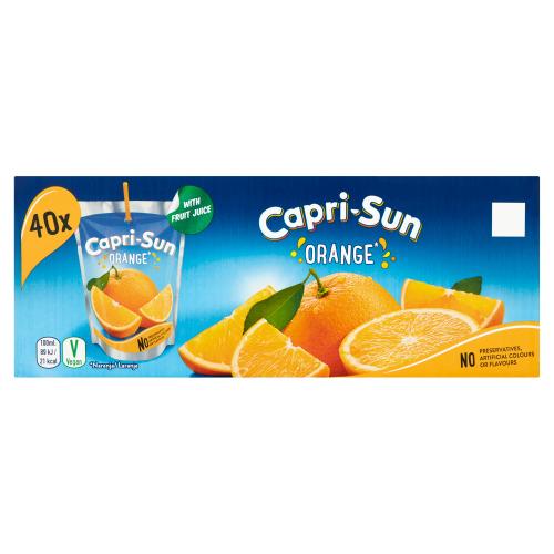 Capri-Sun Orange Stevia Pouch 0.2L 40x (200ml)