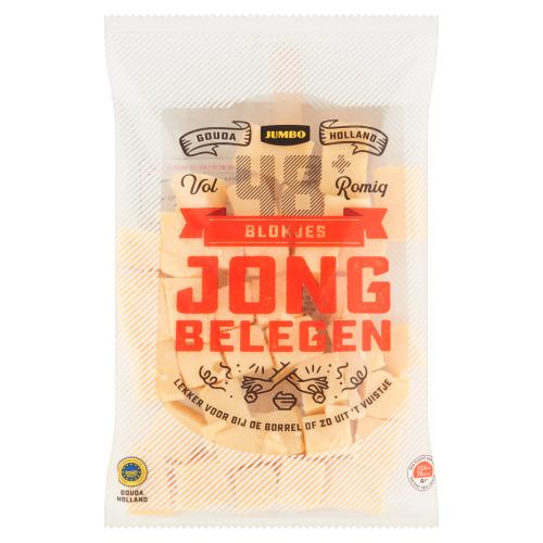 Jumbo Blokjes Kaas Jong Belegen 48+ Voordeel 300g (300g)
