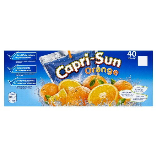 Capri-Sun Orange Pouch 0.20L 1x40 (40 × 200ml)