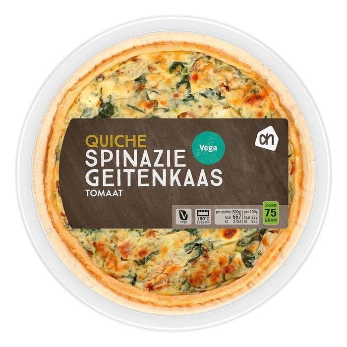AH Quiche geitenkaas spinazie (300g)