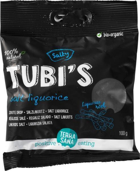 Tubi's Naturel - Zoute drop TerraSana 100g (100g)