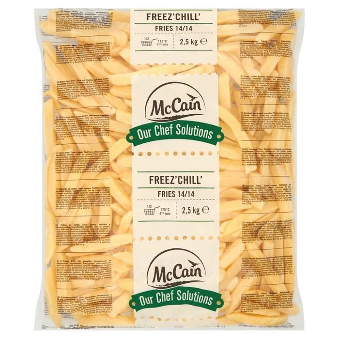 MCCAIN OUR CHEF SOLUTIONS FREEZ' CHILL' FRITES 14/14 (2.5kg)