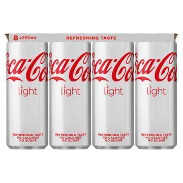 Coca-Cola light (rol, 8 × 250ml)