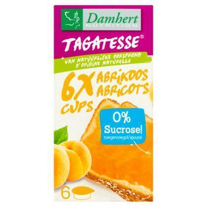 Damhert Nutrition Tagatesse Abrikoos Cups 6 x 15 g (90g)
