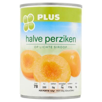 Halve Perziken op licht siroop (blik, 425g)