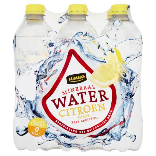 Jumbo Mineraalwater Citroensmaak 6 x 500 ml (6 × 0.5L)