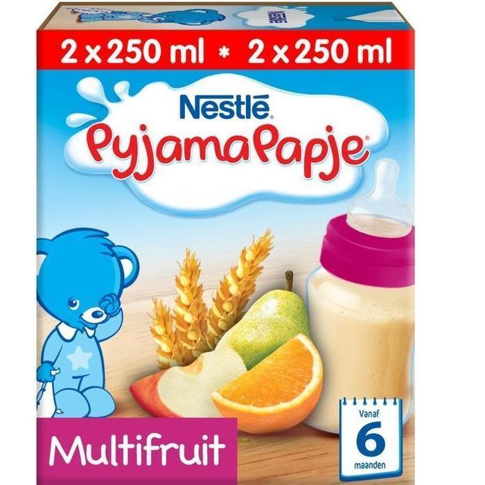 PyjamaPapje Multifruit gebruiksklaar 6 (2 × 250ml)