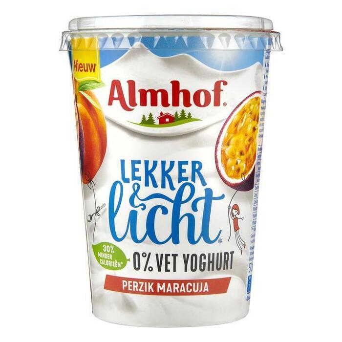 0% vet yoghurt maracuja-perzik (Stuk, 500g)