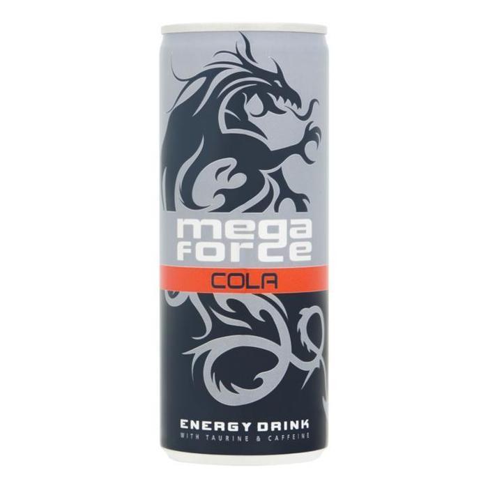 Mega Force Cola Energy Drink 25cl (rol, 25 × 250ml)