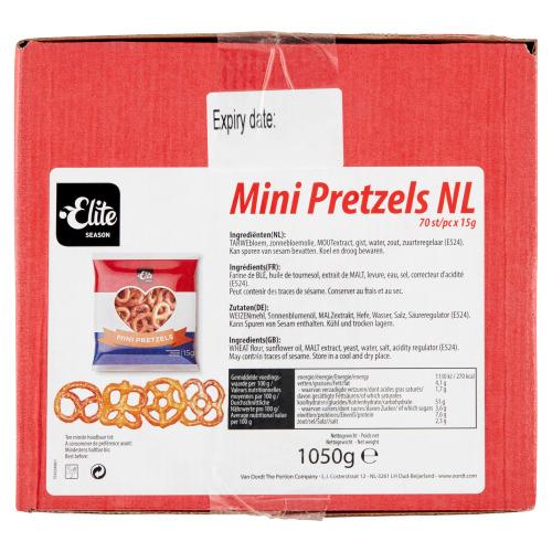Elite Mini Pretzels 70 x 15 g (15g)