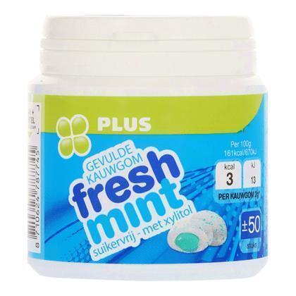 PLUS Kauwgom filled Freshmint (100g)