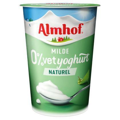 Milde 0% vet yoghurt Naturel (500g)