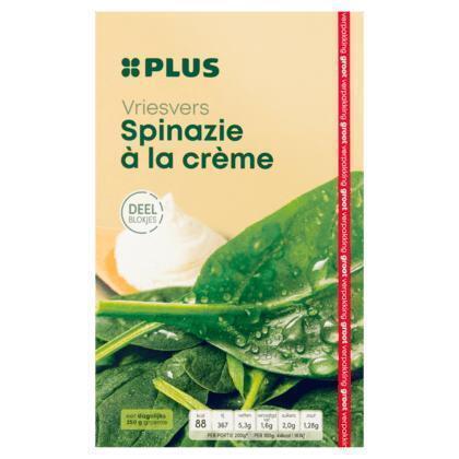 Vriesvers, Spinazie à la crème (doos, 750g)