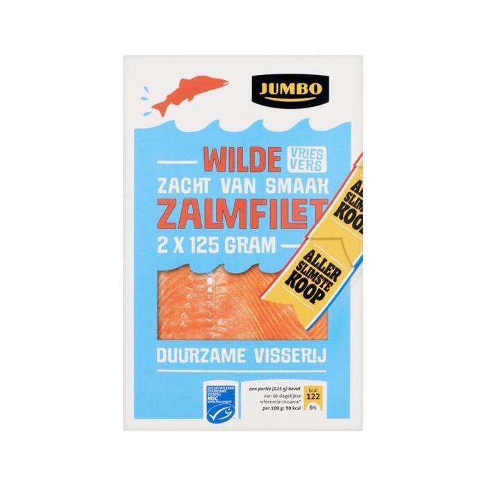 2 wilde zalmfilet, MSC (doos, 2 × 125g)