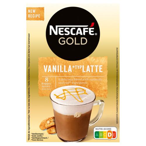 Latte vanilla singleserve 8 sticks (8 × 18.5g)