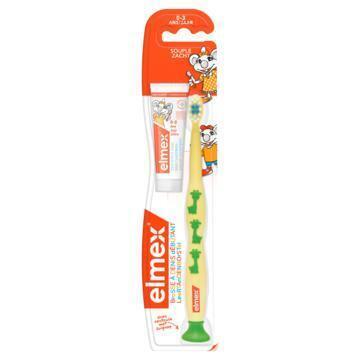 Elmex Tandenborstel 0-3 jaar + tandpasta