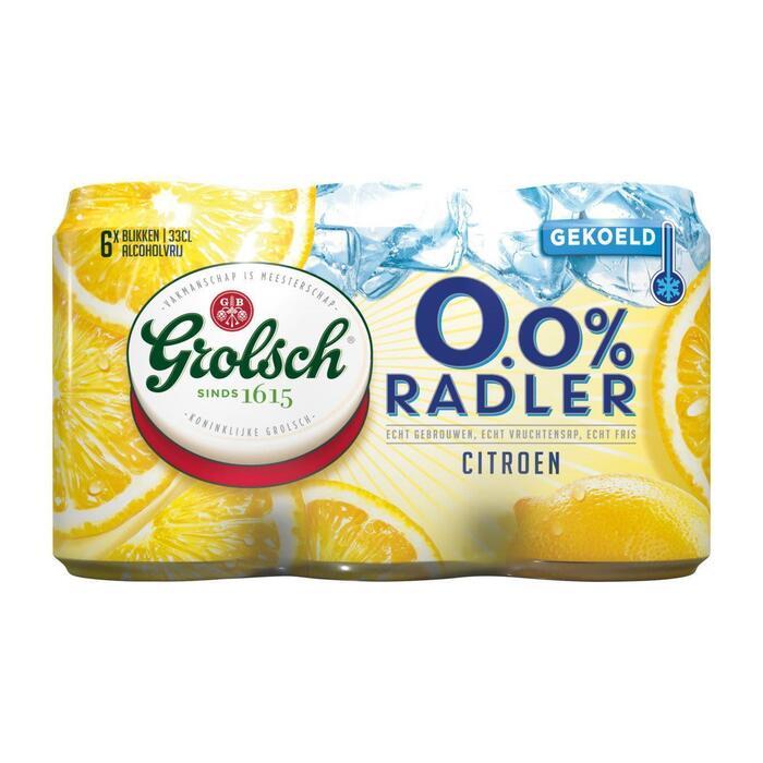 Grolsch 0.0% Radler Citroen Blikken 6 x 33 cl (Gekoeld) (rol, 198 × 1.98L)