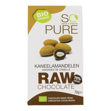 So Pure Raw chocolate cinnamon almonds (70g)