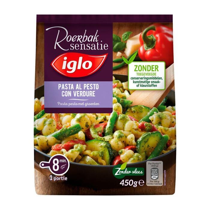 Iglo Roerbaksensatie pasta pesto (450g)