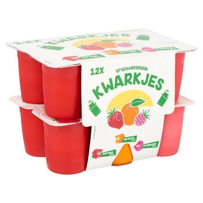 Gearomatiseerde Fruit Kwarkjes Aardbei Abrikoos Framboos 2 x 6 x 60g (12 × 60g)