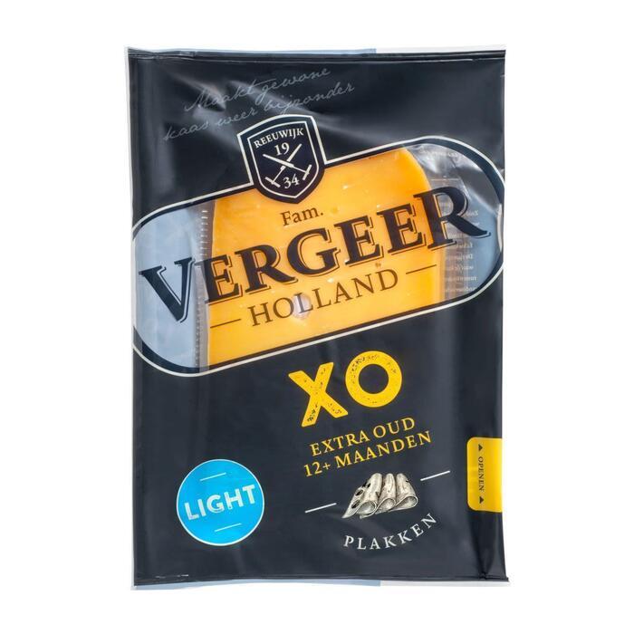 Vergeer XO extra oude kaas light gesneden (175g)