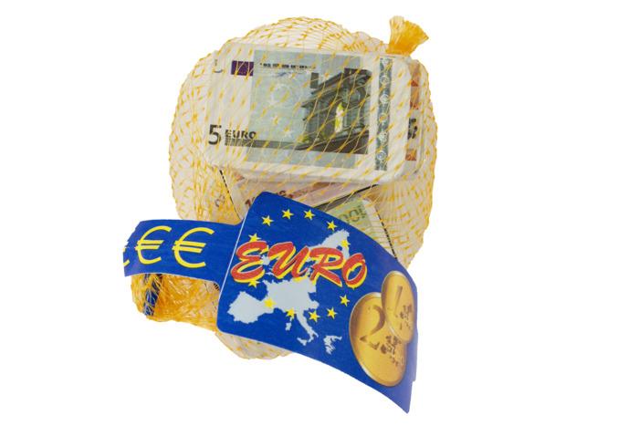 Melkchocolade bankbiljetten 100 gram in netje (100g)