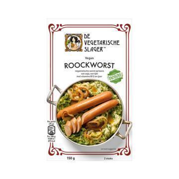 De Vegetarische Slager Veganistische Worst Roockworst 150 g Doos (150g)