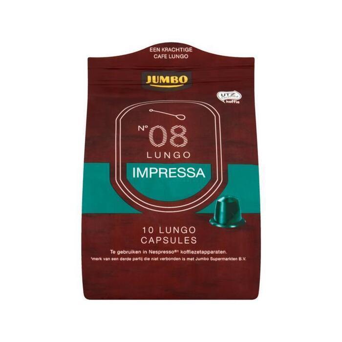 Jumbo N° 08 Lungo Impressa 10 Espresso Capsules 53g (53g)