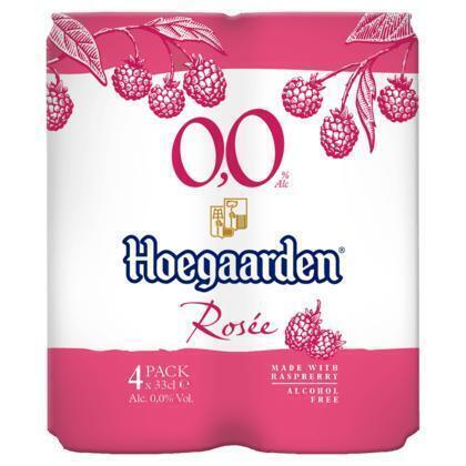Hoegaarden Rosée 0.0% Blikken 4 x 33 cl (rol, 132 × 33cl)
