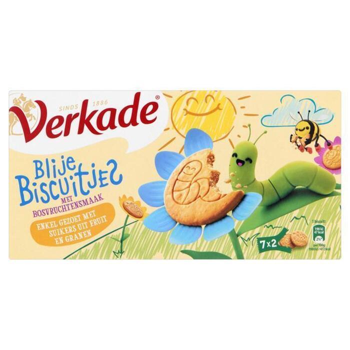 Verkade Blije Biscuitjes met Bosvruchtensmaak 7 x 2 Stuks 135 g (135g)