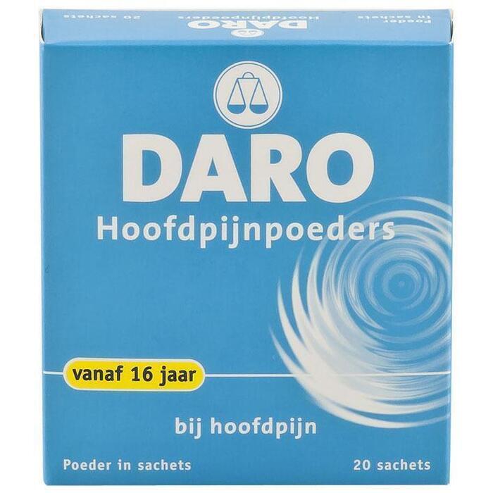 Daro Hoofdpijn poeders (20 st.)