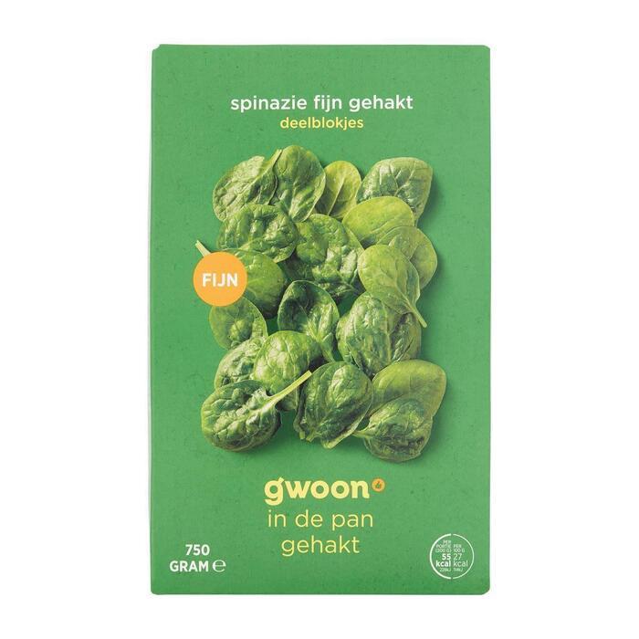 g'woon Gehakte spinazie porties (750g)